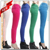 Wholesale Customized 10 Colors Hotsell Stretch Colored Skinny Jeans Girls(AW08)