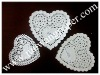 white heart paper lace doyley