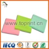 Color paper square sticky memo pad