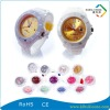 White Case Watch with Color Face for Boy's & Girl's