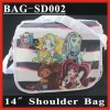 "(BAG-SD002) 14"" Fashion Pattern Canvas Shoulder Messenger Bag"