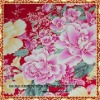 cotton printed fabric with blue rose flower for home textile