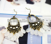 New Elegant Vintage Earrings Alloy Earrings with pearl