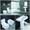 Bathroom suits ceramic toilet /pedestal basin/bidet