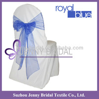 SH034 royal blue organza chair ties,wedding chair cover and organza sash
