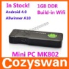 China factory! A10 MINI PC MK802 android 4.0 1GB micro pc