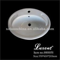 Ceramic counter top wash basin