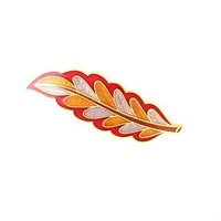 Fashion jewelry leaf brooch (CTXZ127)
